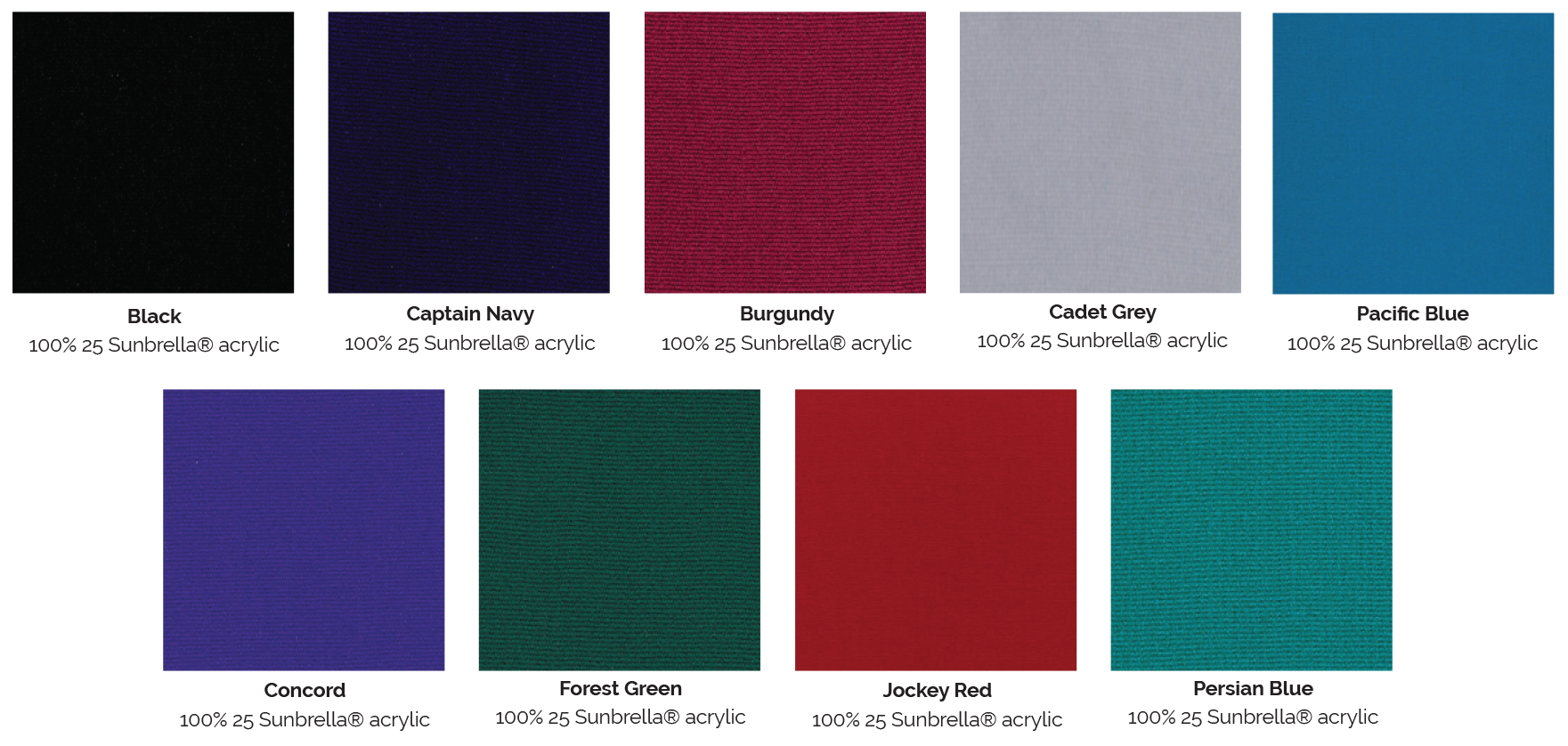 marine fabric colours